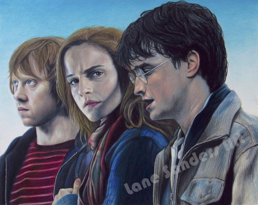 Daniel Radcliffe, Emma Watson, Rupert Grint by lcsanders